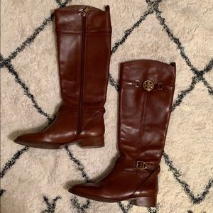 Tory Burch Calista Sienna Brown Riding Boots